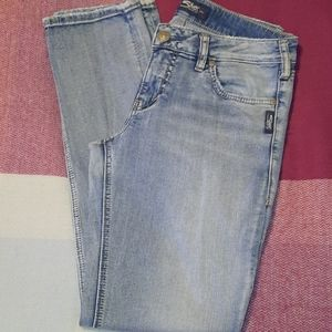 SILVER Elyse acid wash straight jeans